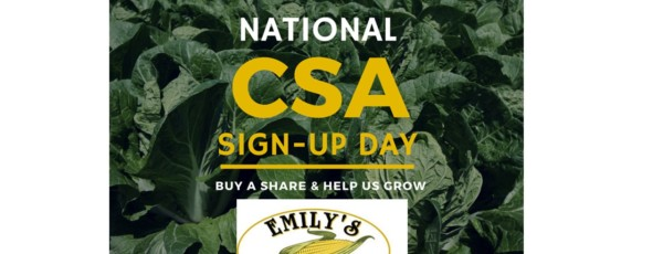 Feb 28th is National CSA Sign Up Day!