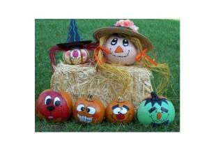 FREE Kid Craft - Pumpkin Painting