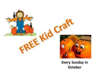 Free Kid Craft Sundays in October