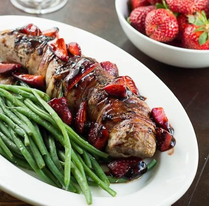 Pork Loin with Balsamic Strawberry Sauce