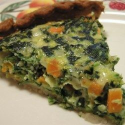 Spinach & Carrot Quiche