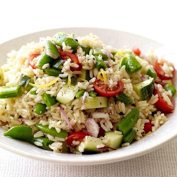 Rice Salad & Sugar Snap Peas
