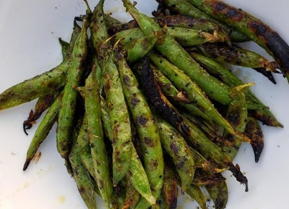 Grilled English Peas