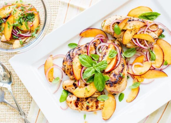 Grilled Chicken with Nectarine Relish