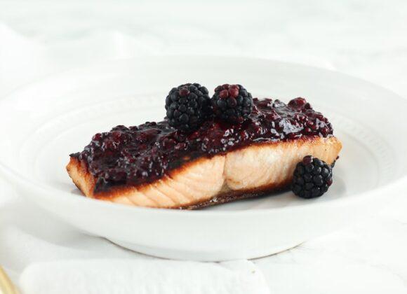 Blackberry Glazed Salmon