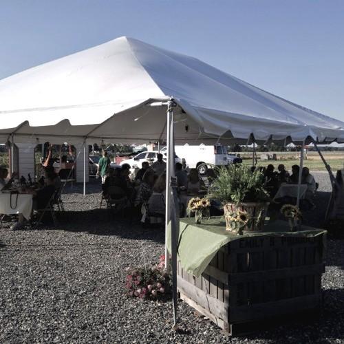 Vendor tent at Emily's Produce